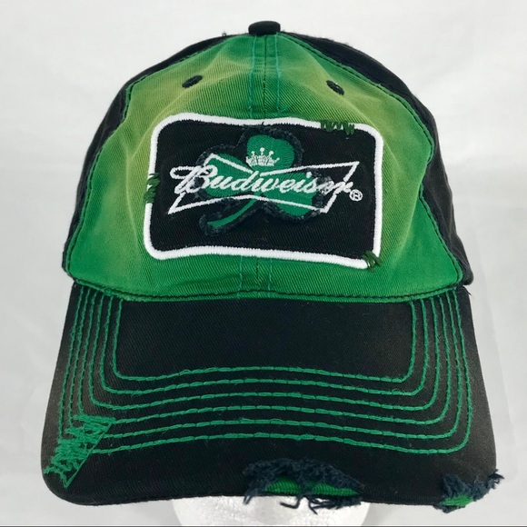 db2fbcf99d7 Budweiser Other - Budweiser Beer Distressed Baseball Cap Hat Patch